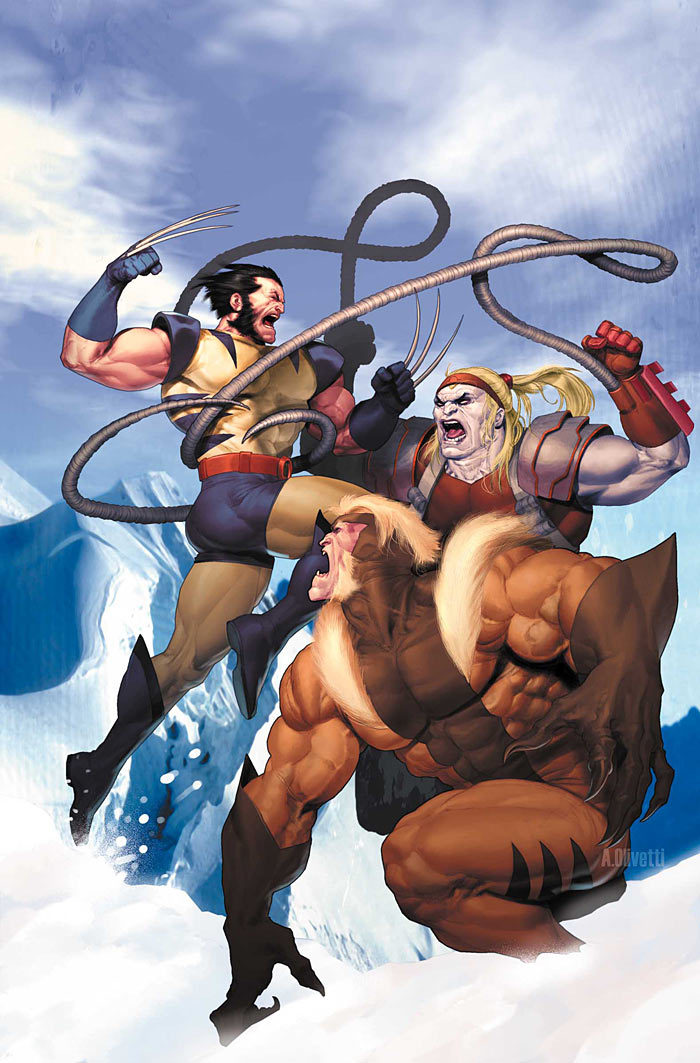 Wolverine, Omega Red, and Sabertooth by Ariel Olivetti