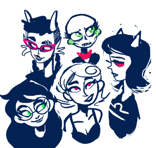 wecansexy:  doodles all my favorite homestucks instead of doing anything useful