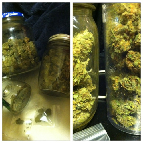 Black cherry kush, orange crush, unknown strand, green crack pressed hash. Yum.   Love your dealer & he'll love you.