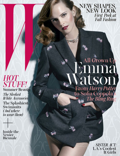 W Magazine, June 2013, cover (+) photographer: Michael Thompson Emma Watson
