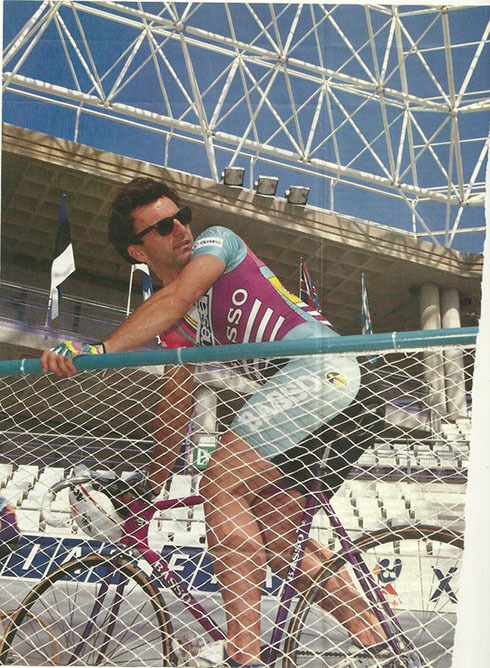 TRACK LIFE:  TRAINING SHADES   Ask Claudio Golinelli all about it.  If you want to improve your training, you can't go wrong with a pair of Wayfarers on your faccia.  Always with the style points, Landlords.