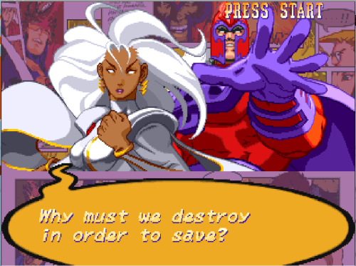 bison2winquote:  - Storm, X-Men vs Street Fighter (Capcom)