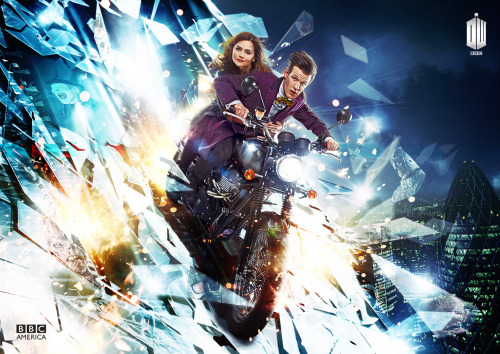 doctorwho:  bbcamerica:  Here is the official launch poster for Doctor Who Series 7.2 on BBC America  Following a record-breaking year, fan favorite Doctor Whoreturns with a modern day urban thriller, The Bells of St. John, written by lead writer and executive producer Steven Moffat (Sherlock).  Set in London against the backdrop of new and old iconic landmarks – The Shard and Westminster Bridge – The Bells of St. John introduces a new nemesis, the Spoonheads, who battle the Doctor as he discovers something sinister is lurking in the Wi-Fi. The premiere will be followed by seven epic episodes written by Steven Moffat, acclaimed writer Neil Gaiman (Coraline, Beowulf), Mark Gatiss (Sherlock), Neil Cross (Luther) and Stephen Thompson (Sherlock).  The new season of Doctor Who premieres Saturday March 30th as part of our brand new Supernatural Saturday lineup of Doctor Who, Orphan Black, and The Nerdist. <— click the links to follow their Tumblrs.  And here's a link to an embiggened version of the poster art.