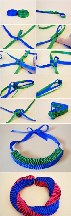 dulceetdecorus:  DIY Ribbon Necklace