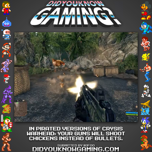 didyouknowgaming:  Crysis Warhead. http://www.vgfacts.com/trivia/2301/  Then why would anyone buy the game?