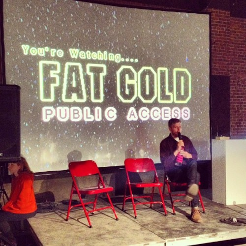 FAT GOLD Public Access now live! Go watch. http://gold.fffff.at/live.html (at Eyebeam Art + Technology Center)