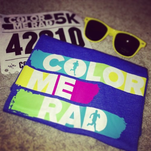 Ready for the weekend! I run because I can! #colormerad #5k #rva #runforboston