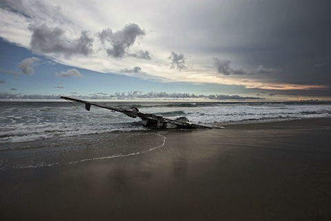flavorpill:  Haunting Photos of Abandoned Planes in the Middle of Nowhere