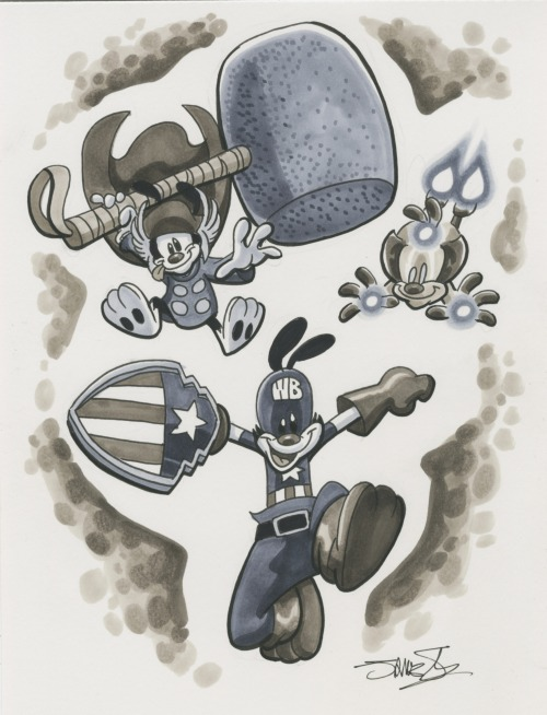 "silvaniart:  Wondercon-  ""We're Avenge-y to the max""  Aww babies!  They're gonna create more havoc than the actual Avengers"
