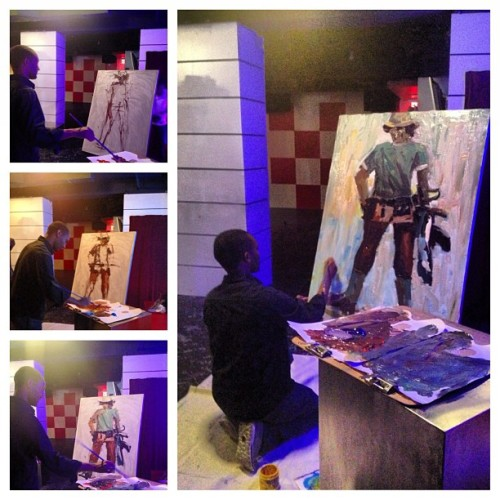 Eritrean Soldier in Massawa by Teklit Debrezion (at Vita Lounge)