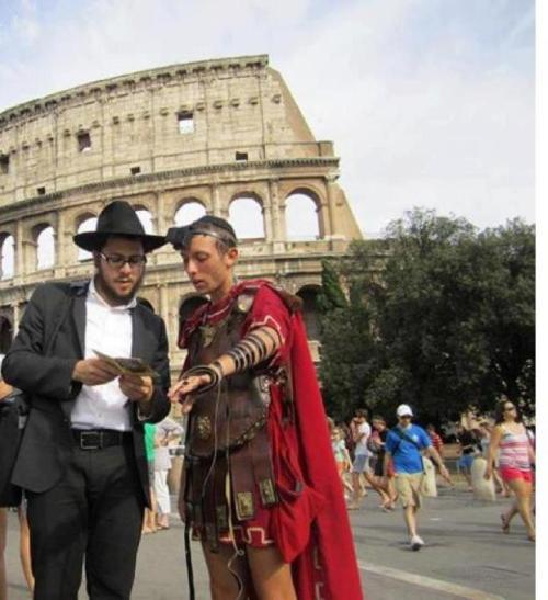 eretzyisrael:  Tefillin in Rome.More here   The Last CenJEWrion. #sorryimnotsorry