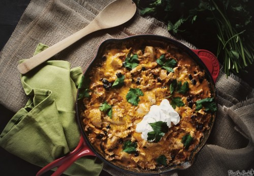 enchilada pasta skillet: recipe here