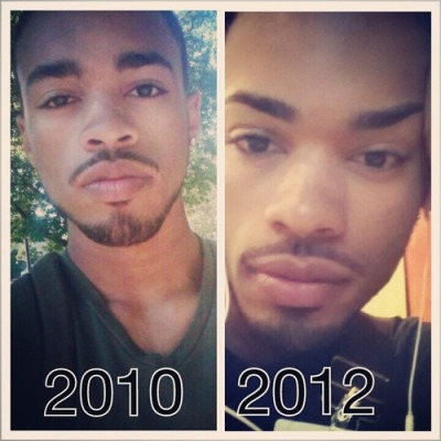 Then an now Eyebrows