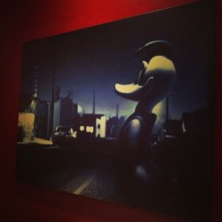 Donald. #donaldduck #painting #photography #luckystrike #ig  (at Lucky Strike Lanes)