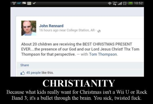 "proud-atheist:  I don't even think ""delusional"" can encompass this…"