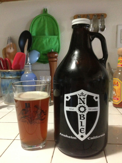 Noble Ale Works Naughty Sauce and our first growler!