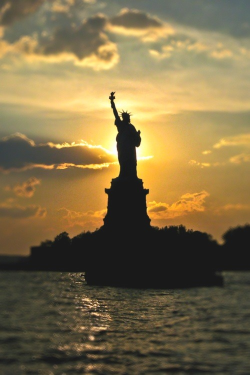 NYC. Lady Liberty strong backlight | NYC