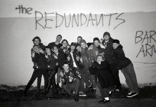 The Redundants 1996 or so. That's my ugly mug in the very back. Punx Unite #1 Photo Shoothttp://www.interpunk.com/item.cfm?Item=93909