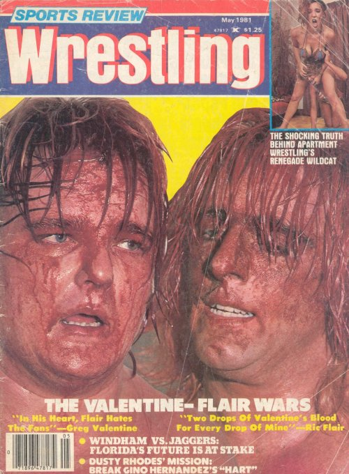 """The Valentine/Flair Wars"" - Sports Review: Wrestling [May 1981] Bloody Ric Flair, Greg ""The Hammer"" Valentine IS professional wrestling."