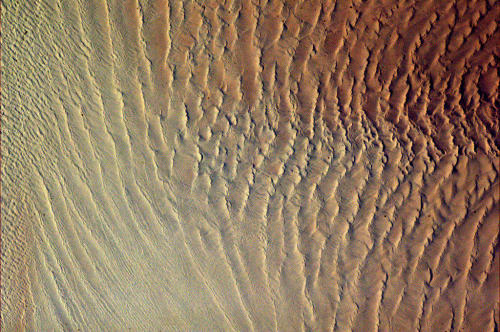 colchrishadfield:  Sands of Namibia, a rippling texture of stark beauty from space.
