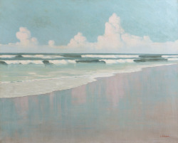 blastedheath:  Louis Cylkow (Polish, 1877-1934), La plage en Bretagne [The beach in Brittany]. Oil on canvas, 65 x 81 cm.