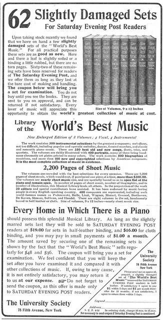 vintascope:  Library of the World's Best Music - 19020816 Post on Flickr.Facebook | Flickr | Tumblr | Twitter | Website