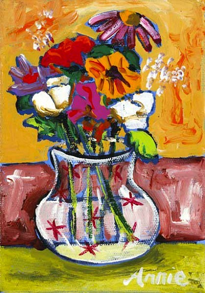 Annie Robinson Still Life with Flowers 21st century