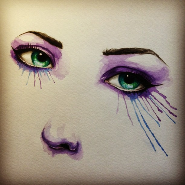 #art #artoninstagram #eyes #watercolor #painting