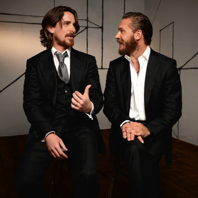 bohemea:  Christian Bale & Tom Hardy  Beautiful bearded men.