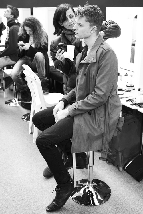garcon-portraits:  Max Rendell backstage at Louis Vuitton AW13