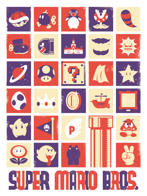 "geeksngamers:  via xombiedirge:  Gaming Objects Poster Series by Jeff Langevin / Store 18"" X 24"" print, available HERE."