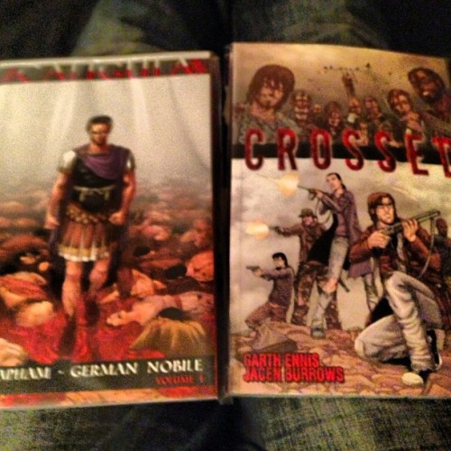 My free comic book day purchases! #caligula #crossed #comicbook #freecomicbookday2013