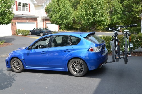 SUBARU WRB WRX with Curt hitch and Kuat Sherpa