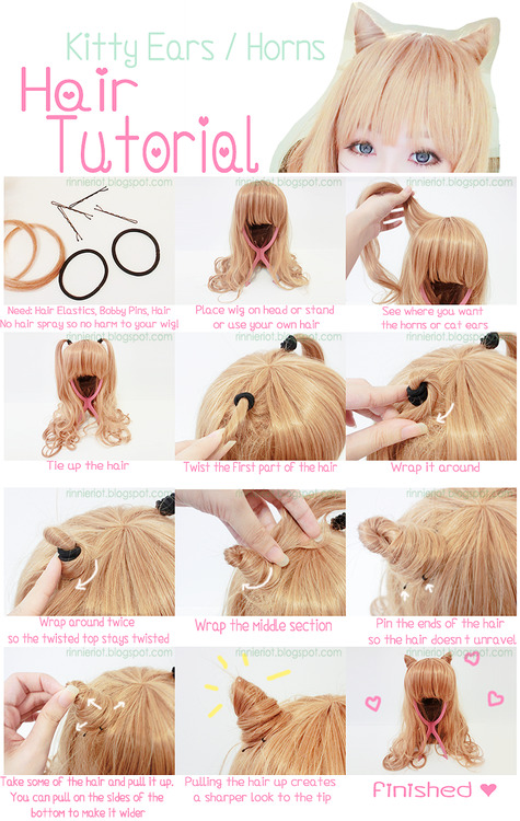 sweetbrolita:  Here is a hair tutorial doen by the wonderful RinnieRiot~ You should check out her blogspot! This tutorial is so cute and simple with enough practice ^3^