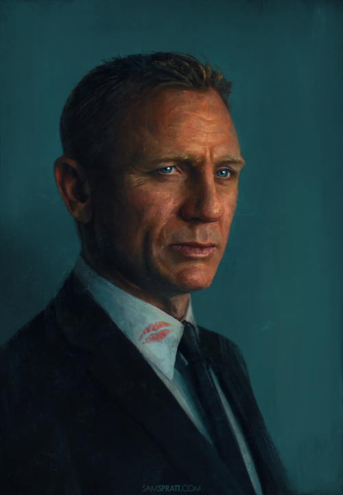 "samspratt:  ""Bond"" - Portrait by Sam Spratt I've been going just a bit crazy bouncing between client projects for… well awhile now… but I've got a few days before things go back to insanity and a good 'ol fashioned portrait of Daniel Craig seemed like a great way to refresh."