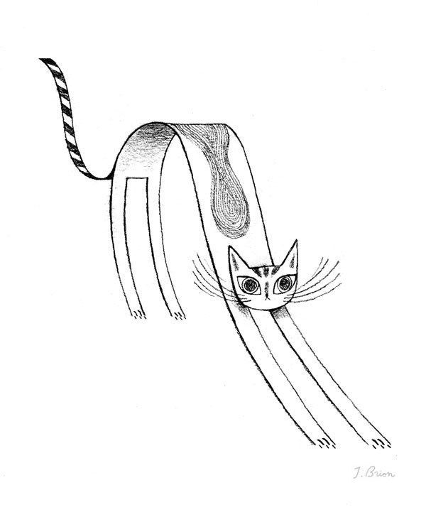 I've added this flat cat drawing to my print shop: http://society6.com/Julibrion/Flat-Cat_Print