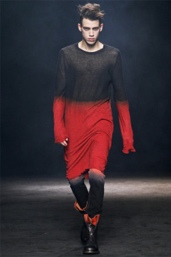 edge-to-edge:  Ann Demeulemeester menswear Fall Winter 2012-13