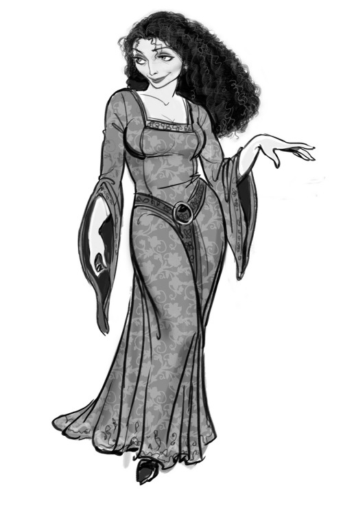 thedevilandtheloon:  Mother Gothel Concept Art (Tangled) (I'm unsure of who the artist is….if you know please add it to the post!)
