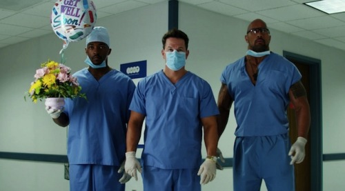 Scenes from Pain & Gain.     Based on the unbelievable true crime story, director Michael Bay makes this Coen brothers-esque drama on steroids about dumb criminals from the '90s his own. It may be excessive and overlong but remains an amusingly dark, disturbing tale as Bay shows the faintest of restraint while doubling down, indulging his boyish sense of humour. Mark Wahlberg and Anthony Mackie serve as solid comedic foils, but it's Dwayne Johnson who truly steals the show as the well-meaning yet dim, Jesus loving, cocaine addled fitness freak member of the Sun Gym gang.