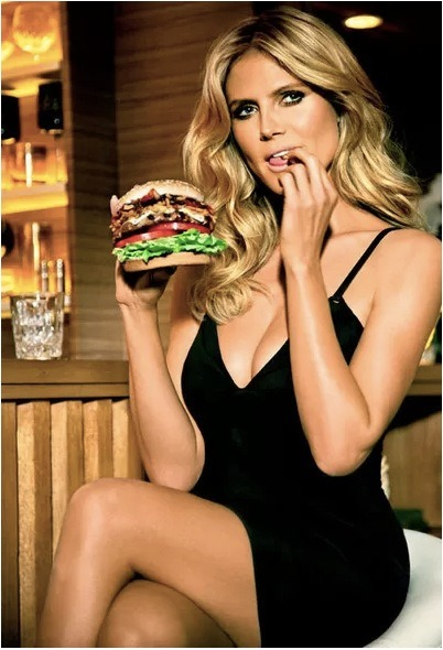 Heidi Klum is the star of a new Carl's Jr. commercial… AWESOME! Who's hungry for lunch already?!?
