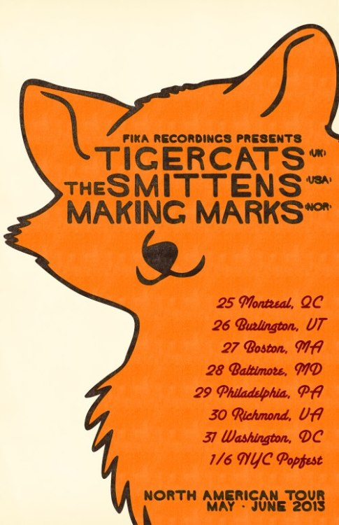 The final poster for our North American Tour with @thesmittens and @tigercatband