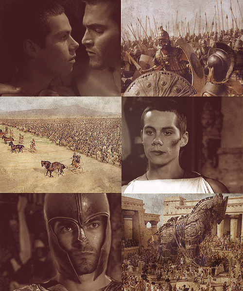 "youareinmyweb:  Sterek | Troy AU:  ""You gave me peace in a lifetime of war."""