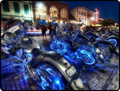 neon bikes by Trey Ratcliff