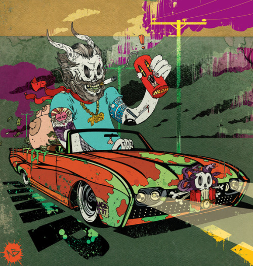 ianbrooks:  Live Fast Drive Hard by Beery Method Prints, iphone cases, and throw pillows available at Society6.  Artist: Twitter / Website