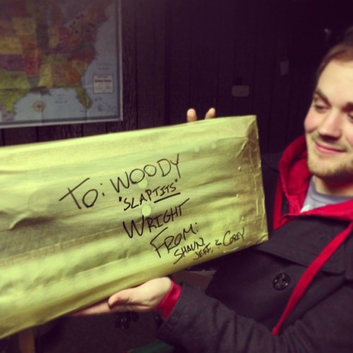 A gift for @insteadofwood . Love #insteadofsleeping #woodysux