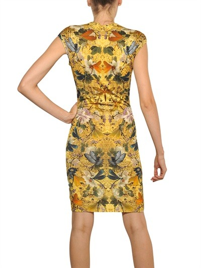 Alexander McQueen Dragonfly print merino wool dress