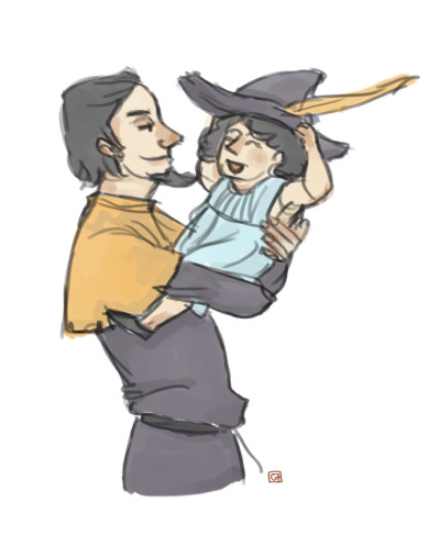 Some Clopin and Child!Esmeralda because of reasons.