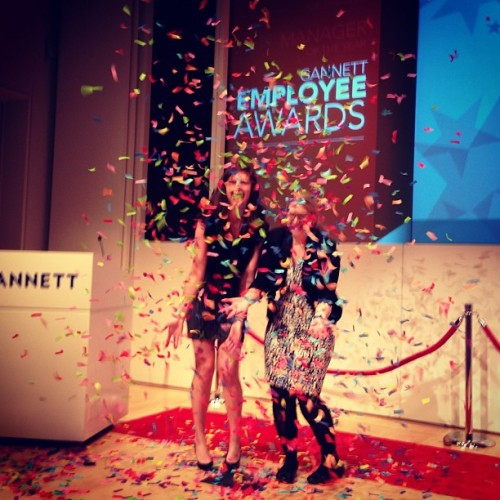 #confetti #bestfriends #latergram #corporate (CC: @rebekahlpepper) (at Gannett)