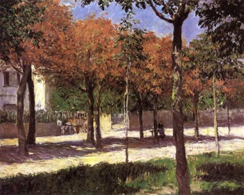 le-desir-de-lautre:  Gustave Caillebotte (French, 1848-1894) Square at Argenteuil 1883 oil on canvas, 61 x 71 cm, Armand Hammer Collection, Los Angeles