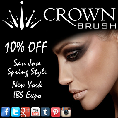 Attention!!! If you are stopping by Crown Brush booth #1007 or #425 at the San Jose Spring Style Show or Booth #1445 or #3722 at IBS New York SAVE this photo!!! Present it at any of our booths with your purchase for 10% OFF!!! Share this image with everyone going to Spring Style or The International Beauty Show (IBS).#crownbrush #savings #crownpro #crowndiscount